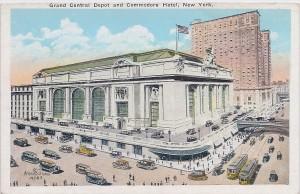 Grand Central Depot - vintage postcard