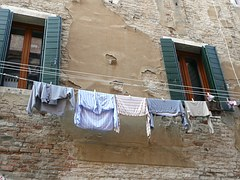 Clothing on clothesline